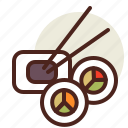 fastfood, meal, restaurant, sushi3 icon