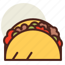 fastfood, meal, restaurant, taco icon