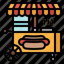 fast, food, stand, street