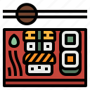 fish, food, japanese, restaurant, sushi icon