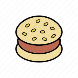 burger, eating, food, meal, restaurant, snacks icon