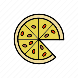 food, meal, pizza, restaurant, snacks icon