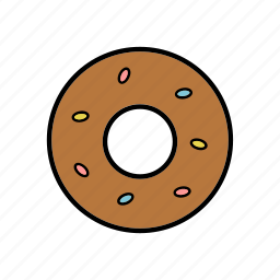 donut, food, pastries, snacks, sweet icon
