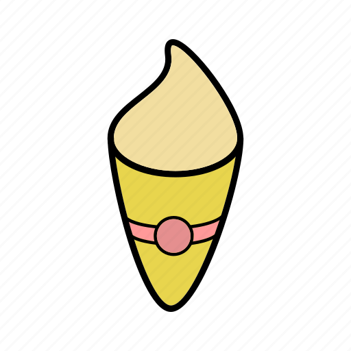 food, ice cream, ice-cream cone, snacks icon