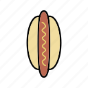bun, frankfurter, hot dog, sausage, snacks icon