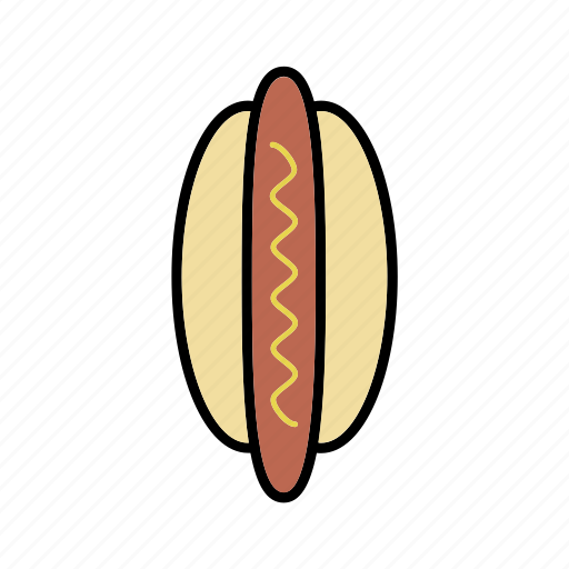 bun, frankfurter, hot dog, sausage, snacks icon