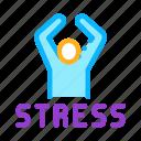 brain, head, health, human, mental, stress icon