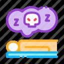 concept, dead, man, person icon