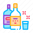 alcohol, bar, bottle, cup, drink, glass icon