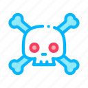 cross, dead, death, halloween, horror, skeleton, skull