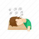character, man, people, person, stress, stressed, white icon