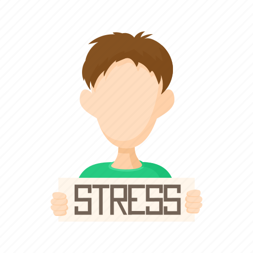 character man people person stress stressed white icon