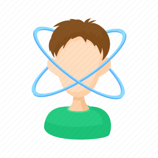 character, dizziness, man, people, stress, stressed, white icon