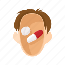 antidepressants, head, man, people, stress, stressed, tablets icon