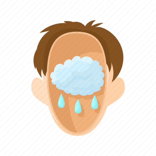 cloud, head, man, people, rain, stress, stressed icon