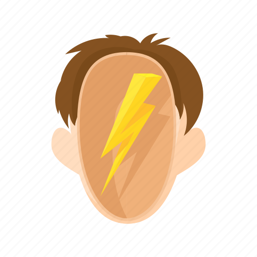 character, head, lightning, man, people, stress, stressed icon