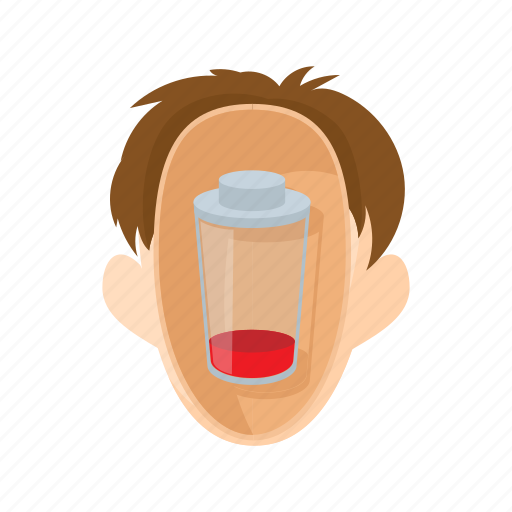 character, glass, head, man, people, stress, stressed icon