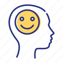 be positive, happy, smile, smiley icon