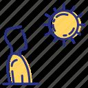 outside, sun, sunny, tan icon