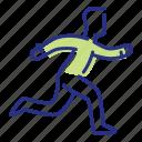 get moving, jogging, running, sport icon