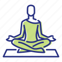 meditation, relaxation, stress relief, yoga icon