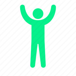 arms, human, pose, up icon