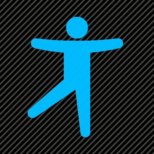 balancing, ballet, dancing, pose icon