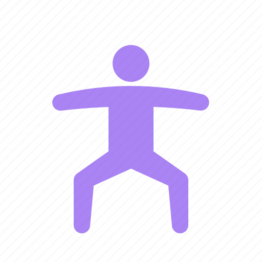 fitness, healthy, pose, squat icon
