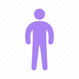 human, male, standing icon
