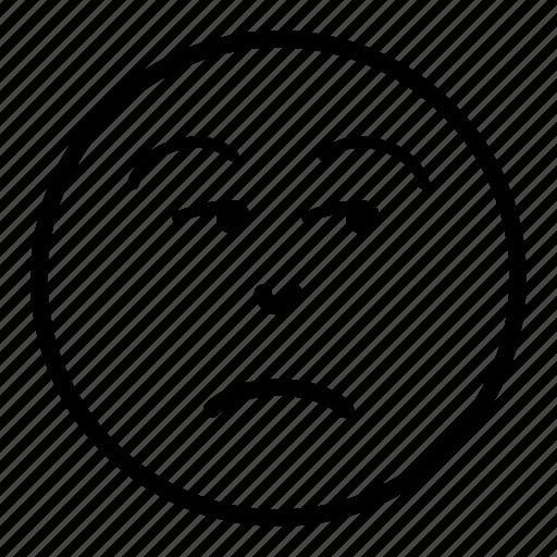 Don't believe, face, meh, negative, smirk, smirking icon