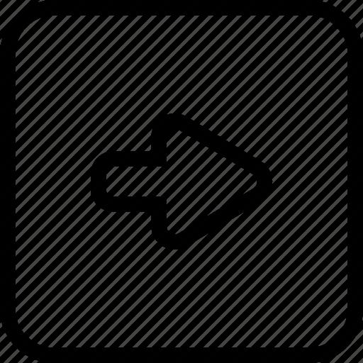 arrow, move, next, right icon