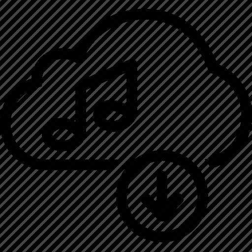 audio, cloud, download, music, sound icon