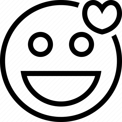 emoticons, expression, face, love, smile icon