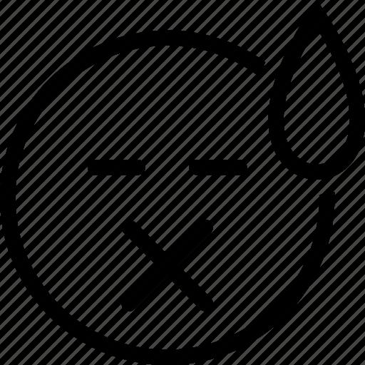 emoticon, expression, face, sad icon