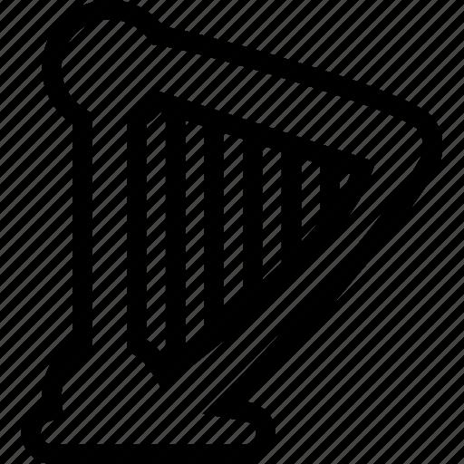 harp, instrument, music, sound icon