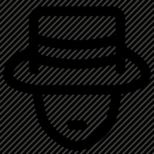 account, avatar, detective, login, profession, profile, user icon