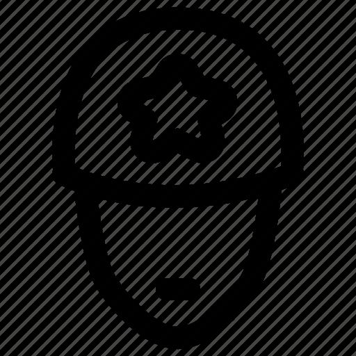 account, avatar, login, male, police, profile, user icon