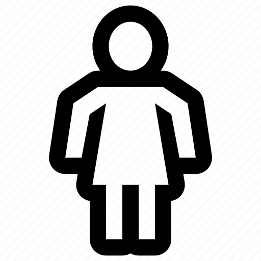 account, avatar, girl, login, profile, user, woman icon