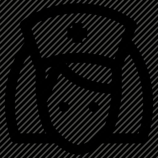 account, avatar, job, nurse, profession, profile, user icon