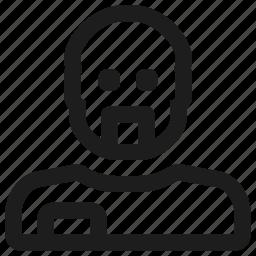 avatar, bald, male, mustache, profile, user icon