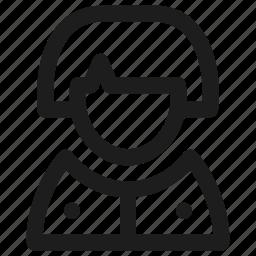 avatar, interface, person, profile, user, woman icon