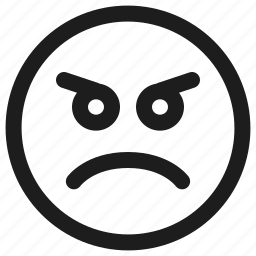 angry, emoji, emoticon, emoticons, emotion, feeling icon