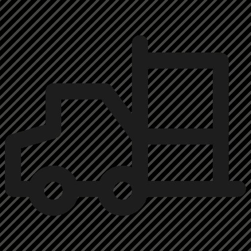 ecommerce, forklift, pakcage, shipping icon