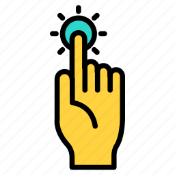 cursor, hand, pointer, screen, tap, touch, touchscreen icon icon