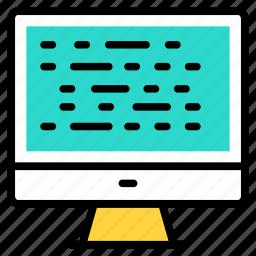 adaptive, codding, design, development, programming icon