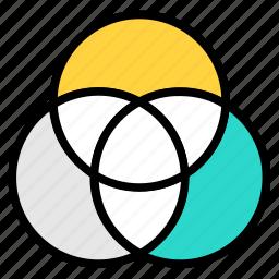 abstract, balance, color, colorful, concept, creative, creativity, design, diagram, digital, element, gradient, graphic, pantone, sample, sampler, scheme, trend, triad, wheel icon icon