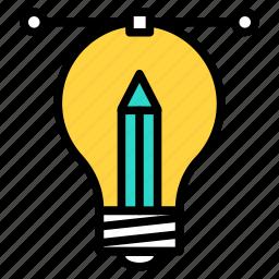 blub, creative, creative process, design, idea, process, sign icon