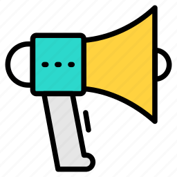 communication, essential, interaction, marketing, promote, promote icon, talk icon