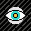 eye, eye test, magnifier, search, view, vision