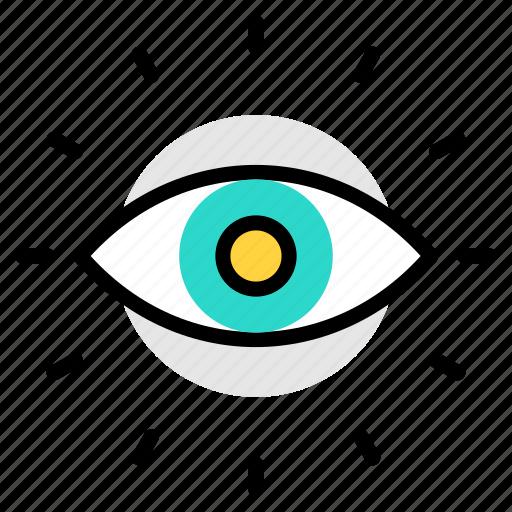 eye, eye test, magnifier, search, view, vision icon